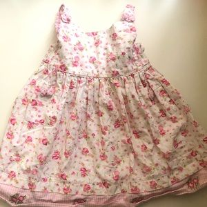 Pink and White Flower Dress